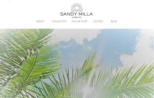SANDY MILLA http://www.sandy-milla.com/ 馬場 千紘(CAD・アントレ) きらめく海。ビーチで待ち焦がれるサンセット。ピースフルで自分らしく。