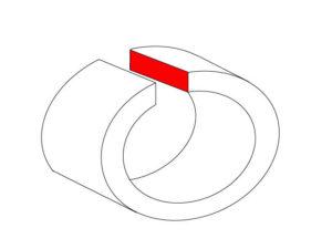 それぞれ面積が違うので、ロウ材の大きさも変わります。それを想像してロウの大きさを決めていきます