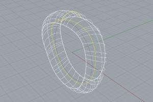 リボルブのように、断面線が設定した軸方向に対してしか回転するようになるため、 下の絵のようにキレイにリングが出来てくれます。
