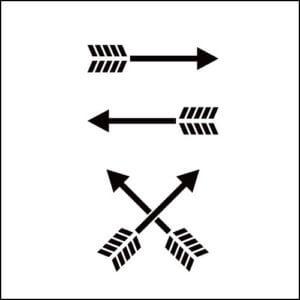 アローヘッド アローは矢で、アローヘッドは矢じりのこと。