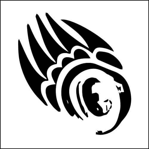 ベアパウ クマの手・足跡はベアと同様、また吉兆を表します。