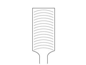 波目 直線の目ではなく円弧状の目が入っています。金属に対しての食い込みは甘いですが目詰まりしずらい。主にアルミニウムなどの軟金属を削るのに適しています。
