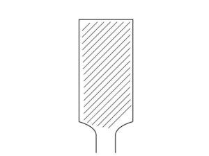 単目 仕上げ面が綺麗になる反面ヤスリ掛けの時に横滑りする特徴があり扱いが少し難しいです。削るというより鉋(かんな)で削いでいるような感覚が特徴でもあります。