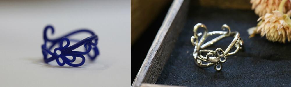 原型が出来たら鋳造に出し、磨いて完成