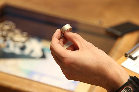 体験で作った指輪